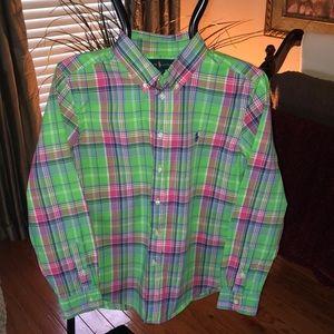Ralph Lauren green plaid shirt